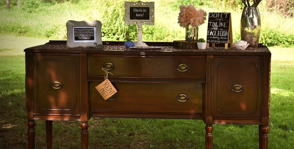 Brown Buffet Table