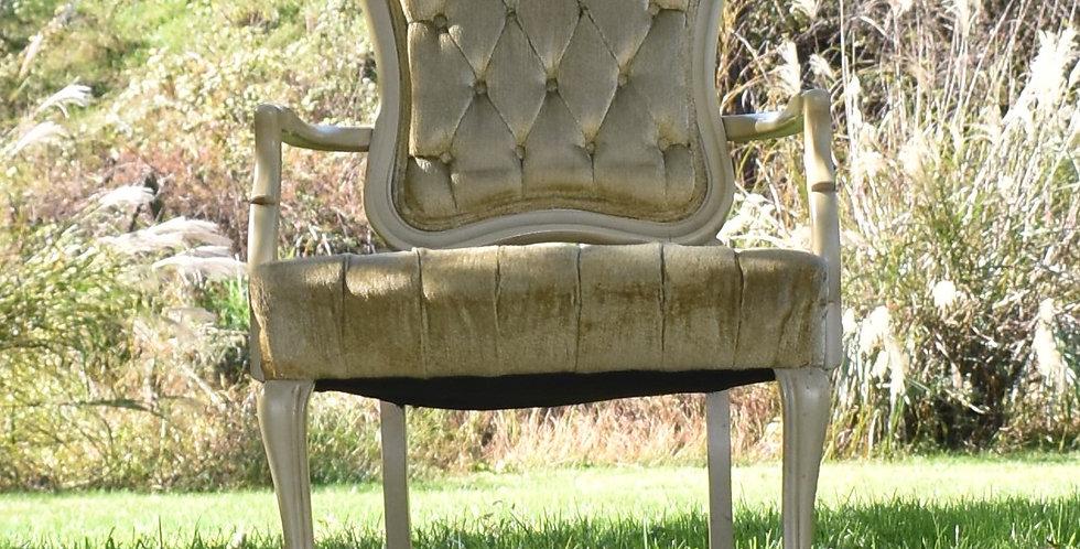 Cream Velvet Slipper Chair