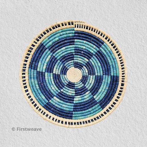 Blue Fan Wall Decor 18 inch