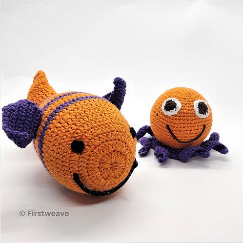 Fish and Octopus Combo Orange