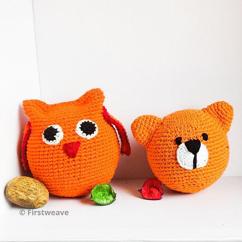 Owl and Teddy Combo Orange