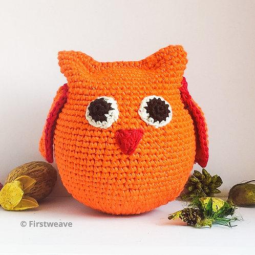 Owl Ball Orange with Red Beak