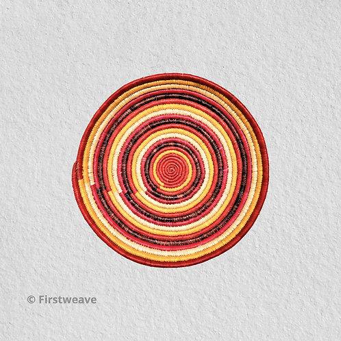 Warm Concentric Wall Decor 10 inch