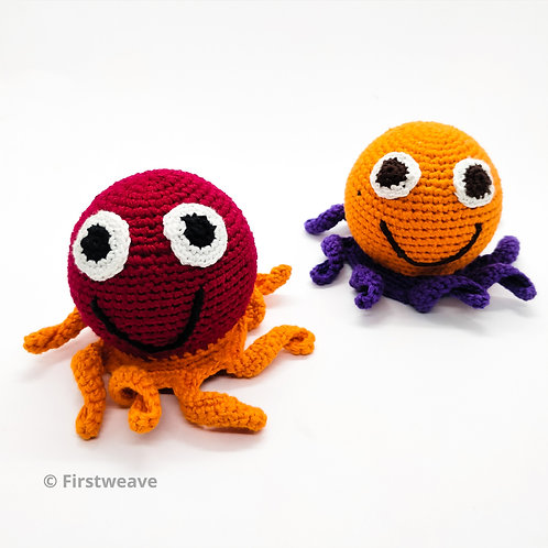 Octopus Rattle Combo Set Of 2