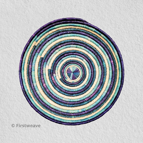Blue Concentric Wall Decor 18 inch