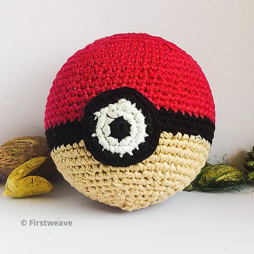 Pokemon Ball Red & Pale Ivory