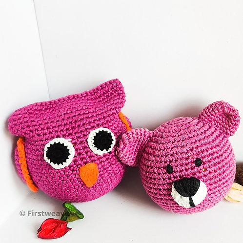 Owl and Teddy Combo Magenta