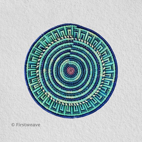 Blue Rhythm Wall Decor 14 inch