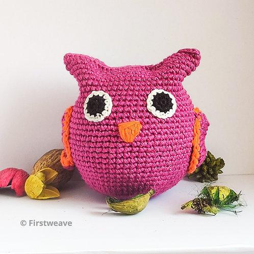 Owl Ball Magenta with Orange Beak