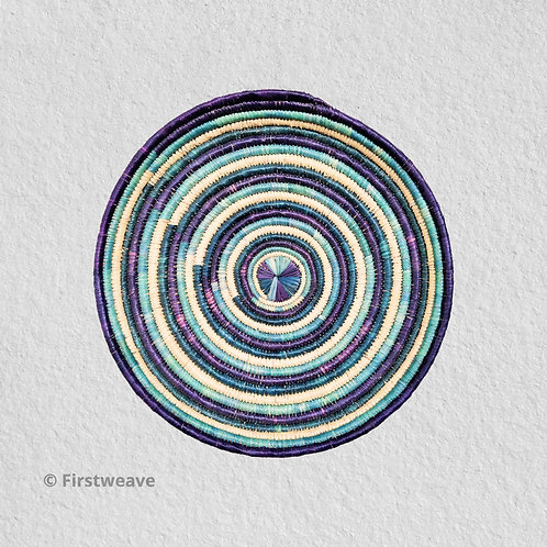 Blue Concentric Wall Decor 14 inch