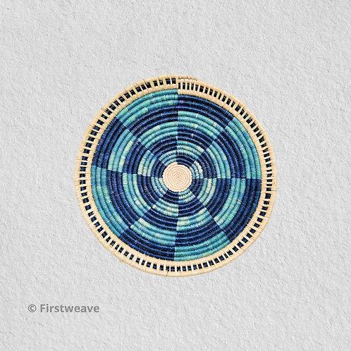 Blue Fan Wall Decor 10 inch
