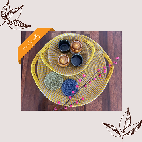 Serving Tray Round - Set Of 2