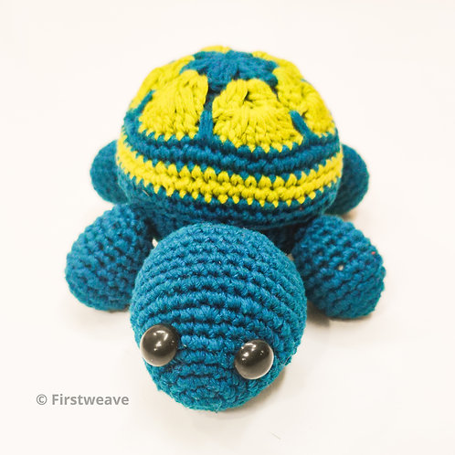 Turtle Rattle Blue-Green