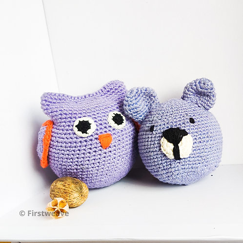 Owl and Teddy Combo Violet