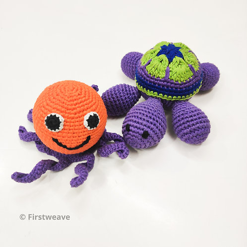 Turtle and Octopus Combo Orange