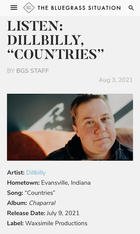 """The Bluegrass Situation: """"Countries"""""""
