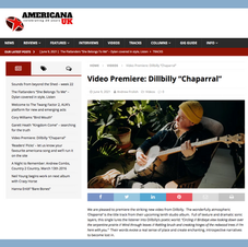 Music Video Premiere & Review by Americana UK