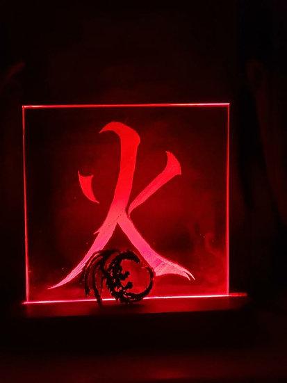 Fire Kanji Glass Light