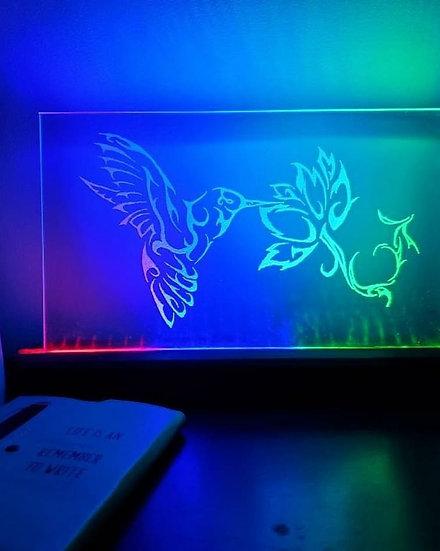 Hummingbird Glass Light