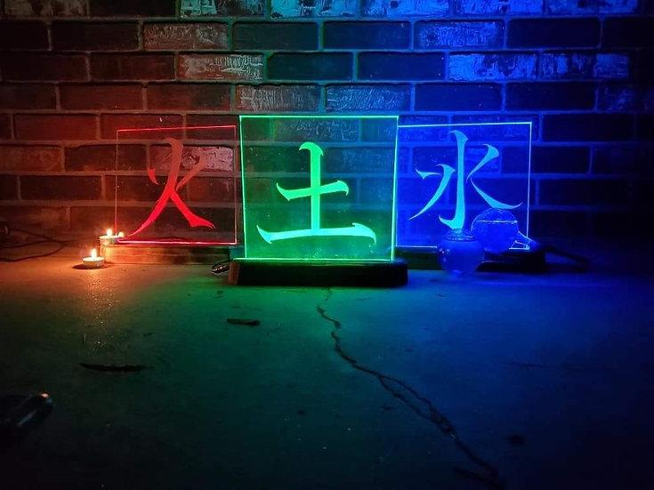 Four Elements Kanji Series