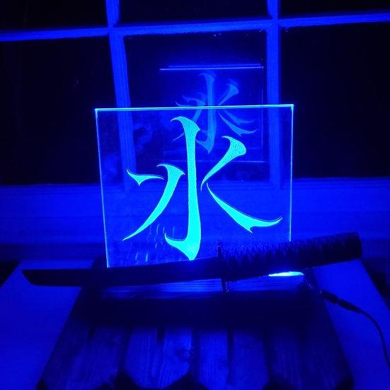Custom Kanji Glass Light