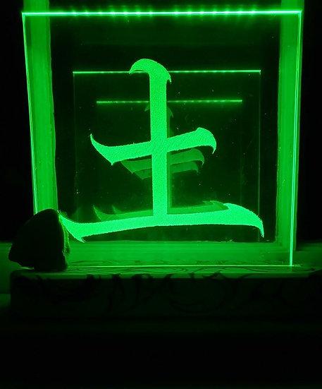 Earth Kanji Glass Light
