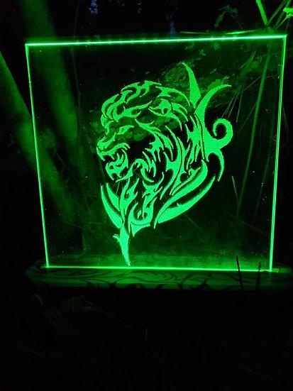Lion Glass Light