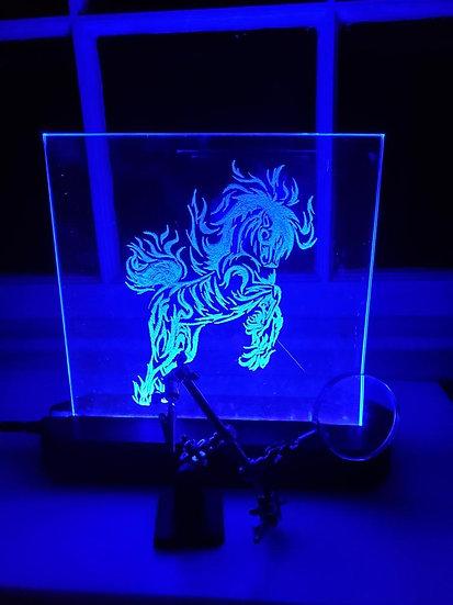 Fire-Horse Glass-Light