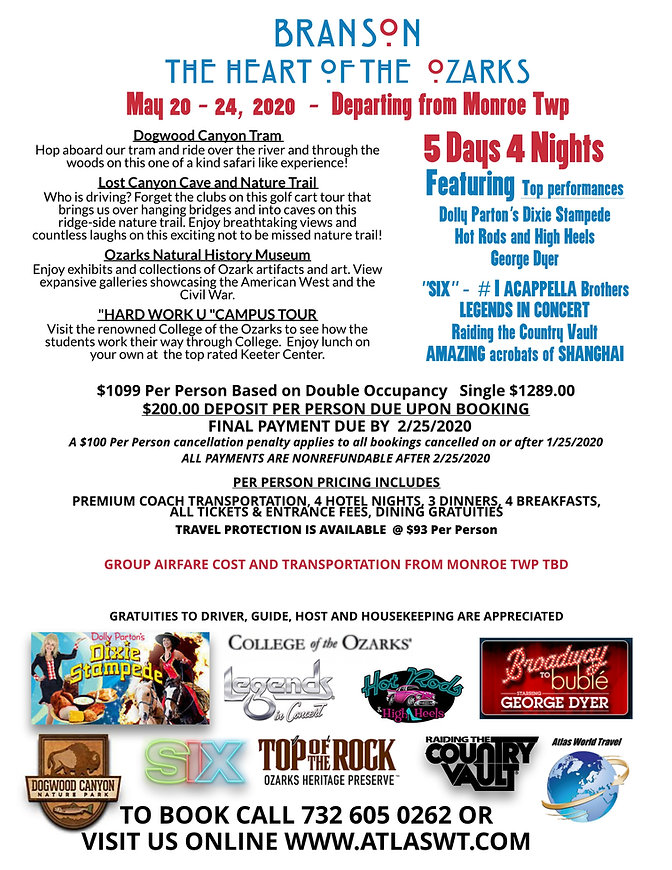 Branson and the Ozarks - May  7 - 11, 20