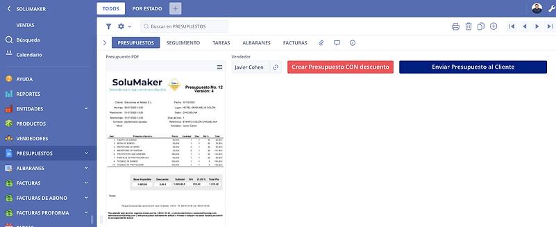 CRM en Ninox en español software de vent