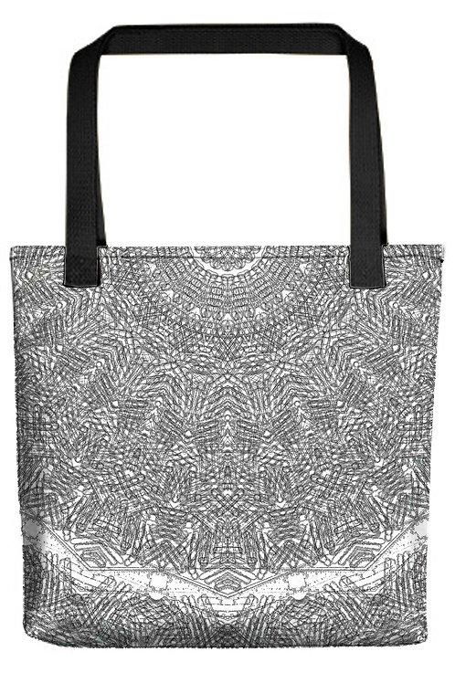 B&W Mandala Tote Bags