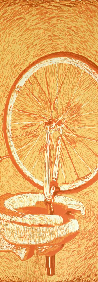 Hovig 16363 Huile sur Toile (Orange Redu
