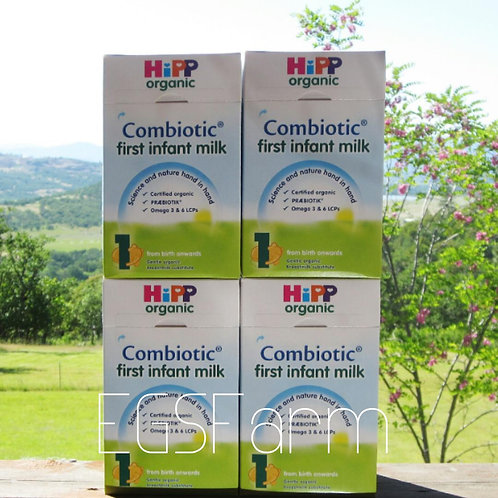 4 Boxes HIPP Organic Combiotic First Infant Milk-Stage 1 UK Version