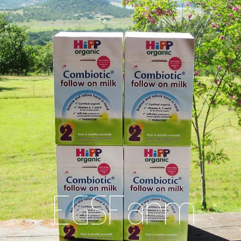 4 Boxes HIPP Organic Combiotic Follow on Milk-Stage 2-UK Version