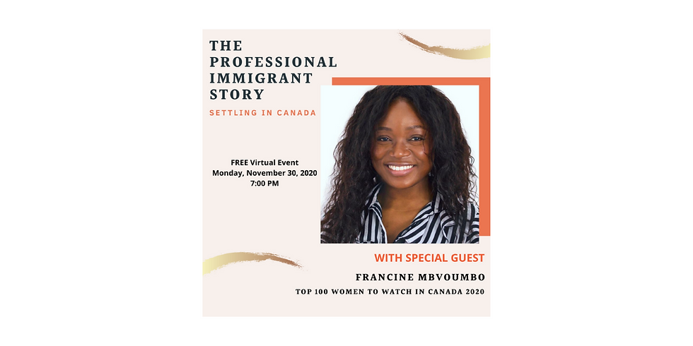 The Professional Immigrant Story (Settling in Canada)