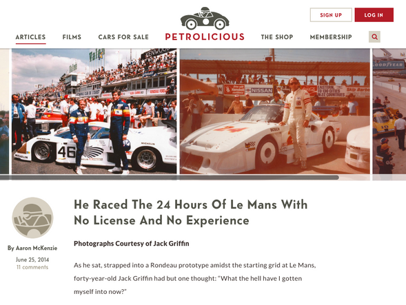 He Raced the 24 Hours of Le Mans With No License and No Experience