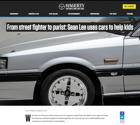 From street fighter to purist: Sean Lee uses cars to help kids