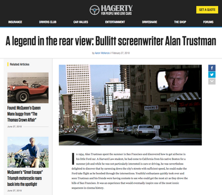 A legend in the rear view: Bullitt screenwriter Alan Trustman