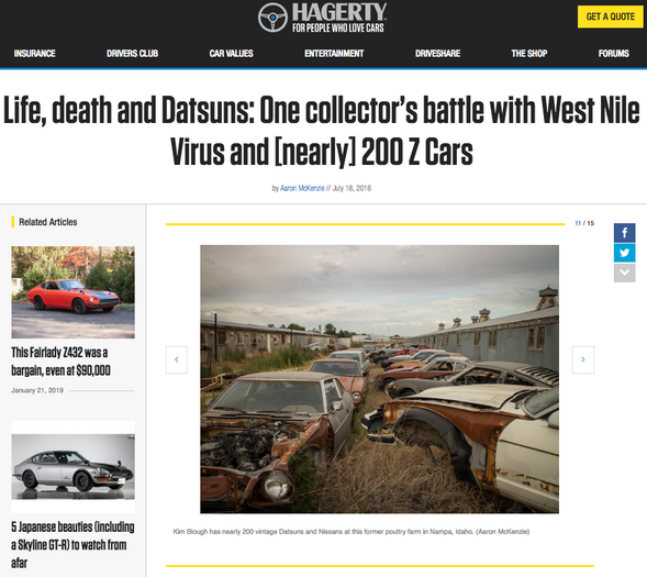 Life, death and Datsuns: One collector's battle with West Nile Virus and [nearly] 200 Z Cars