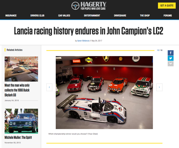 Lancia racing history endures in John Campion's LC2