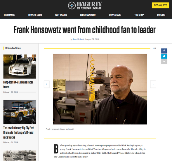 Frank Honsowetz went from childhood fan to leader