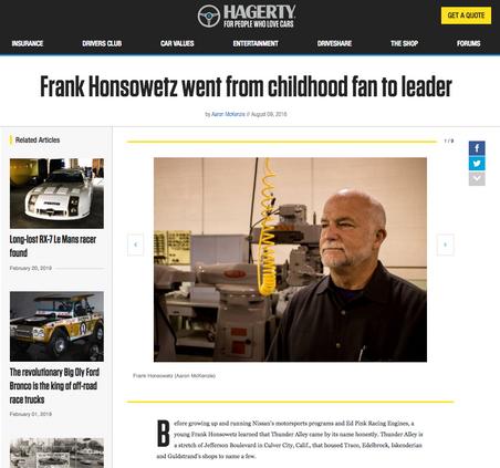 Frank Honsowetz went from childhood fan to leader