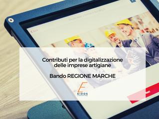 Bando Regione Marche per la digitalizzazione delle imprese artigiane