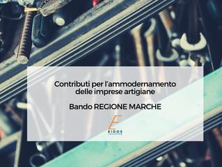Bando della Regione Marche per l'ammodernamento delle imprese artigiane