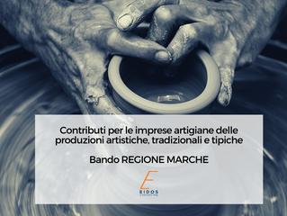 Bando Regione Marche per imprese artigiane della produzione artistica, tipica e tradizionale