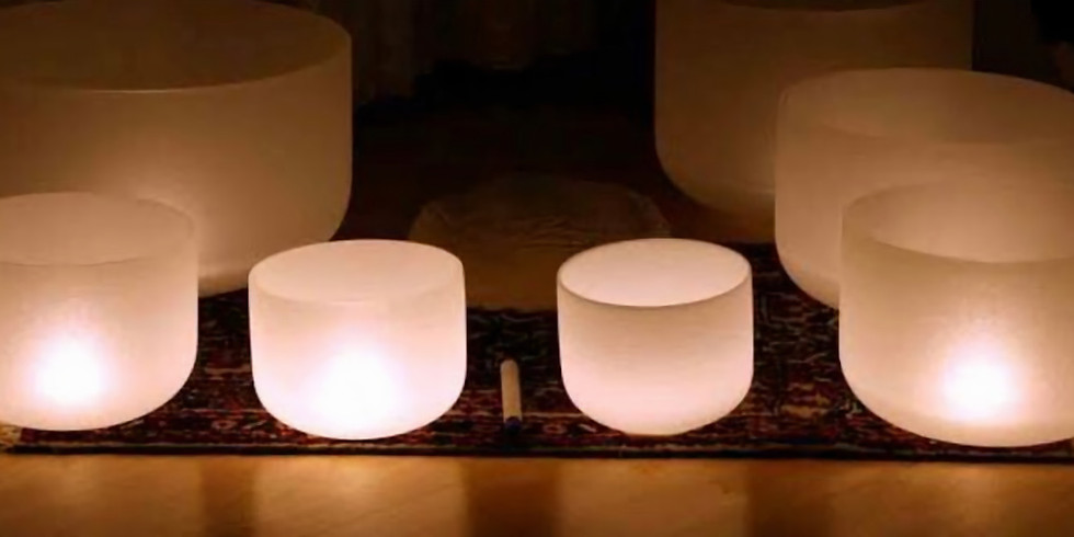New Moon Crystal Bowl Sound Healing and Tea ceremony