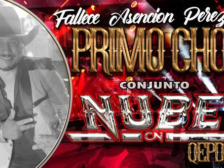 FALLECE VOCALISTA DE CONJUNTO NUBE