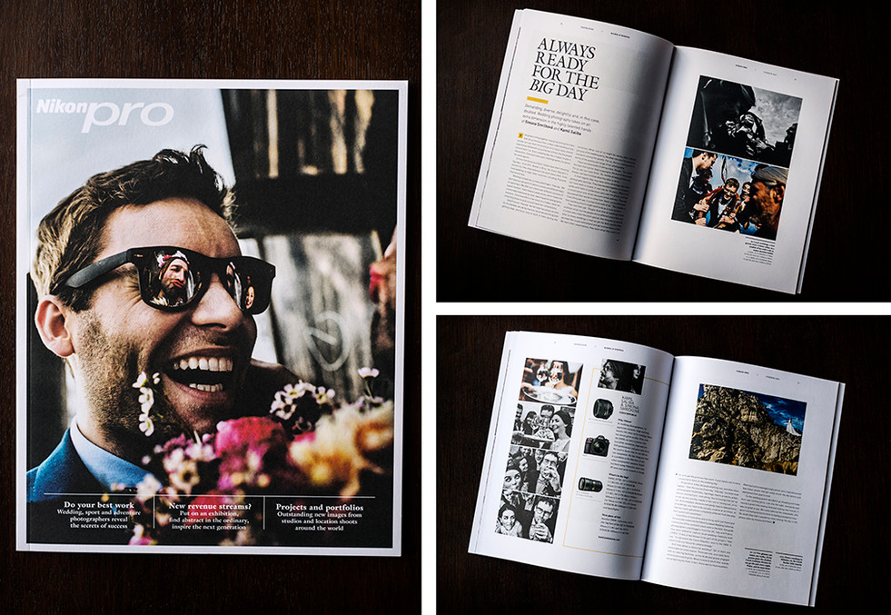 COVER AND INTERVIEW FOR NIKON PRO MAGAZINE