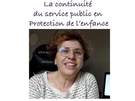 Interview de Christine : la continuité du Service Public en Protection de l'enfance...