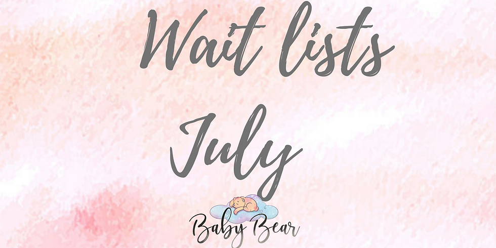 Wait list July Classes